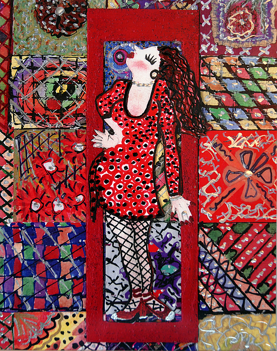 Women Painting - Always Make An Entrance by Cynda LuClaire