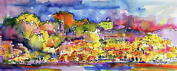 Amalfi Painting - Amalfi Italy Coastline Travel by Ginette Callaway
