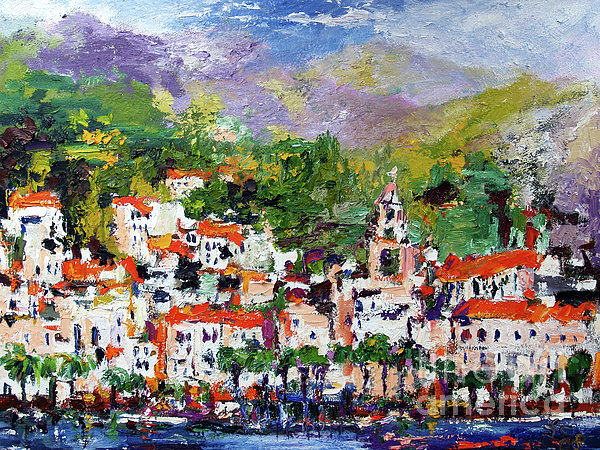 Amalfi Italy Painting by Ginette Callaway