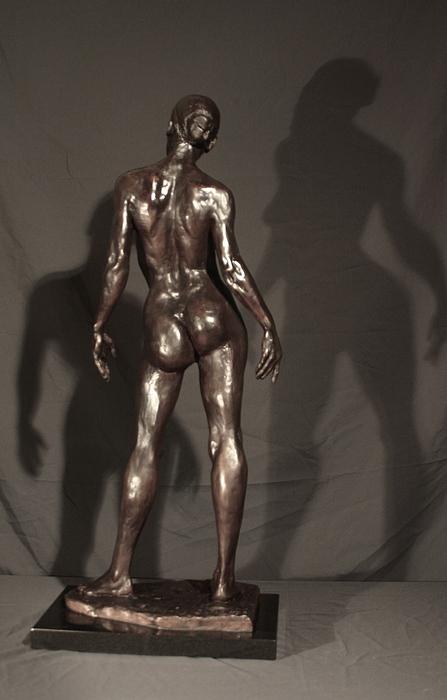 Bronze Sculpture Sculpture - Amazing Grace Back View by Dan Earle