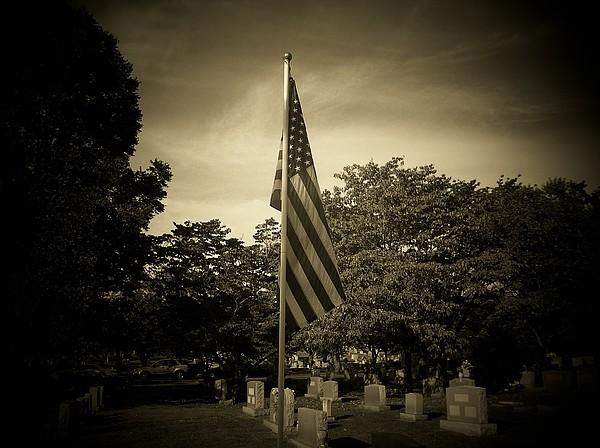 Flag Photograph - Amazing Grace by Jessica Burgett