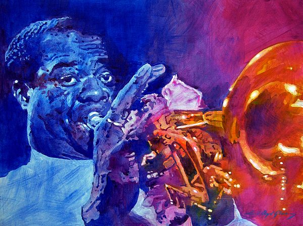 Jazz Painting - Ambassador Of Jazz - Louis Armstrong by David Lloyd Glover