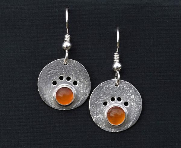 Dog Jewelry Jewelry - Amber Dog Paw Earrings by Heather  Hamilton