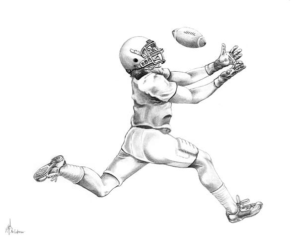 Drawing Drawing - American Football by Murphy Elliott
