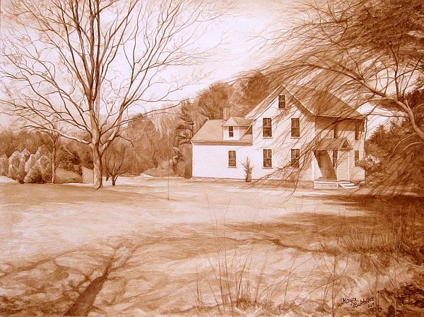 Maya Bukhina - American house to the north of Boston