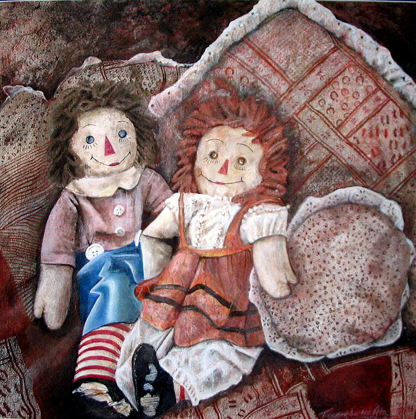 American Icon Raggety Ann And Andy Painting by Rebecca  Both