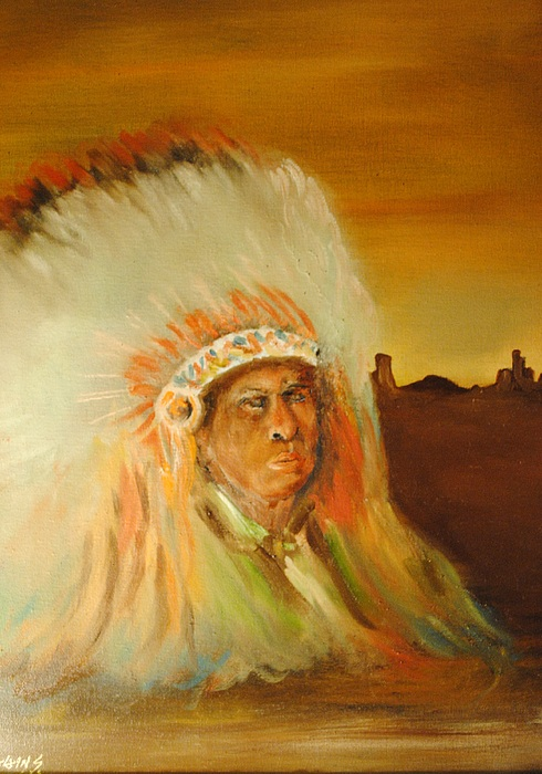 American Indian Painting by James Higgins