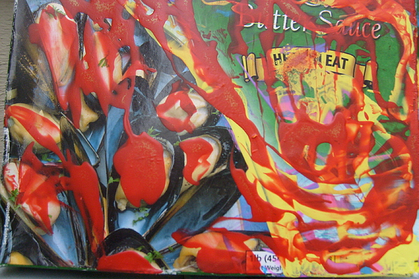 Box Painting - American Mussels With Catsup by Bruce Combs - REACH BEYOND