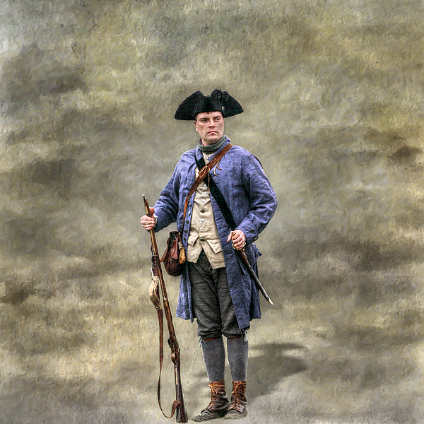 American Revolution Colonial Militia Soldier Greeting Card
