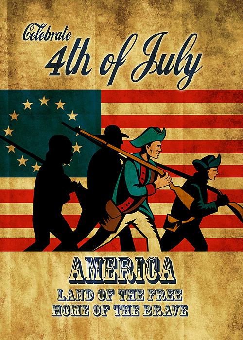 American Digital Art - American Revolution Soldier Vintage by Aloysius Patrimonio