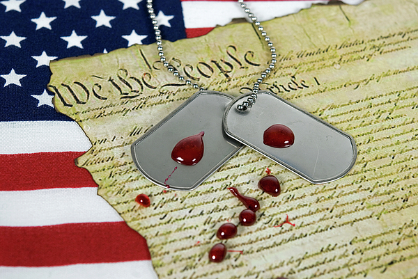 Armed Forces Photograph - American Sacrifice by Maria Dryfhout