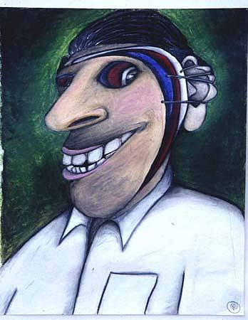 Politics Painting - American Voter by Billy Knows