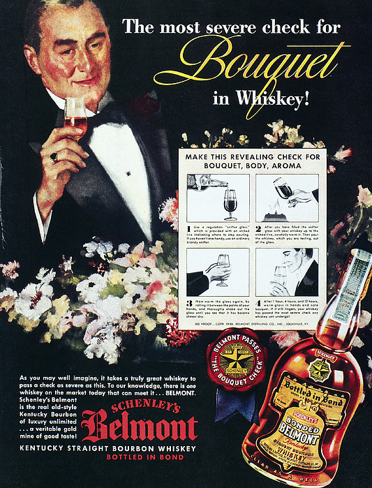 1938 Photograph - American Whiskey Ad, 1938 by Granger