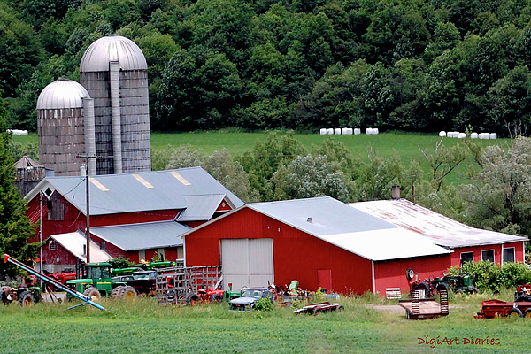 Barns Digital Art - Americas Heartland by DigiArt Diaries by Vicky B Fuller