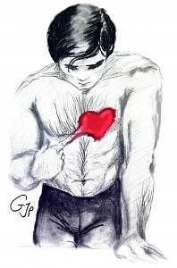Valentine's Day Drawing - Amistol by Pamela Benjamin