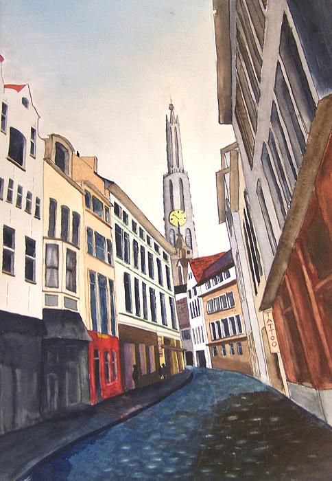 City Painting - Amstradam by Robert Thomaston