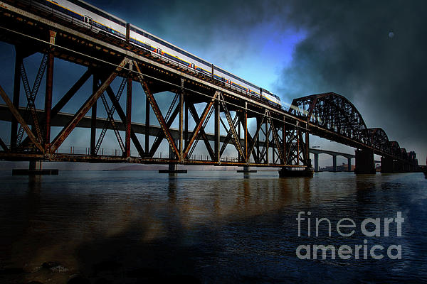 Wingsdomain Photograph - Amtrak Midnight Express 5d18829 by Wingsdomain Art and Photography