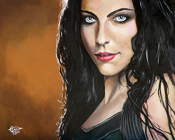 Amy Lee Painting - Amy Lee by Tom Carlton