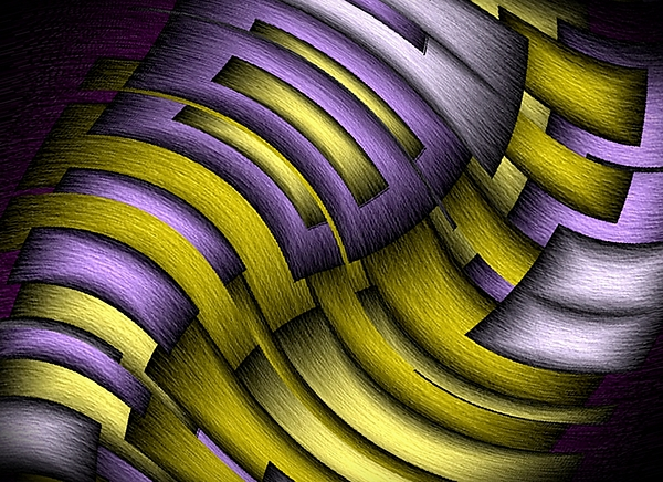 Abstract Digital Art - An Abstract Slope by Terry Mulligan