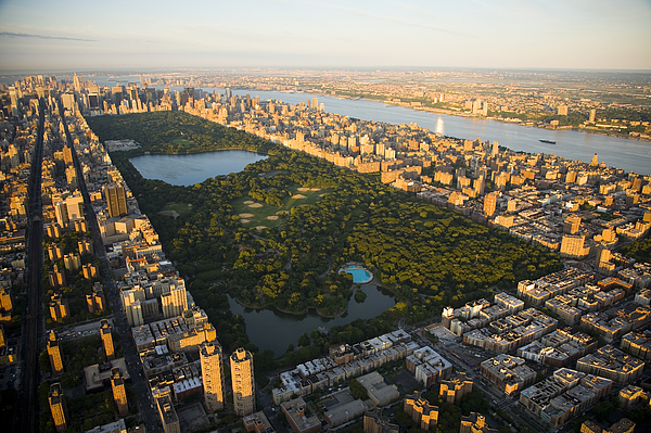 Urban Scene Photograph - An Aerial View Of Central Park by Michael S. Yamashita