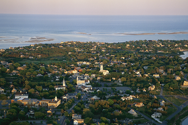 Outdoors Photograph - An Aerial View Of Chatham by Michael Melford