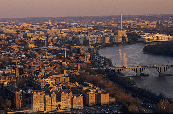 Aerial Views Photograph - An Aerial View Of D.c. And The Potomac by Kenneth Garrett