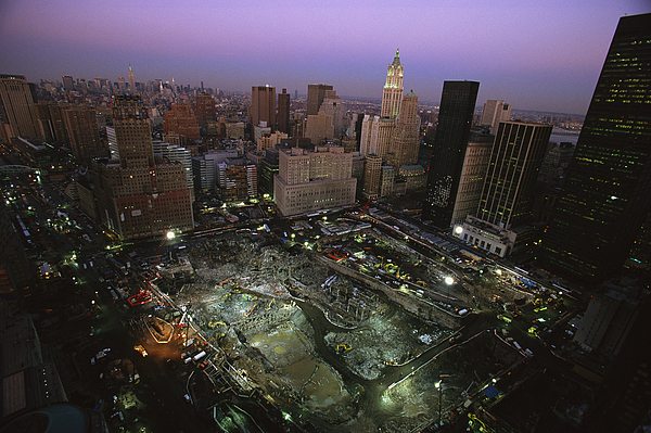 Disasters Photograph - An Aerial View Of Ground Zero by Ira Block
