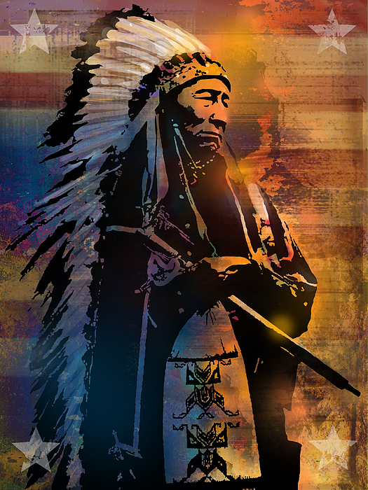 Native Americans Painting - An American Sunrise by Paul Sachtleben