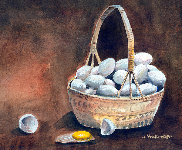 Egg Mixed Media - An Egg Mishap by Arline Wagner