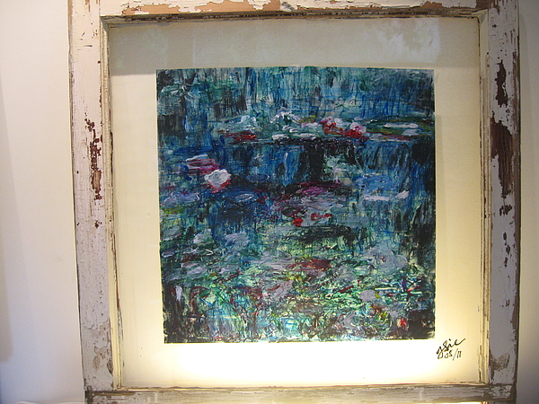 Water Lilies Painting - An Evening In A Garden by Jeff Sie