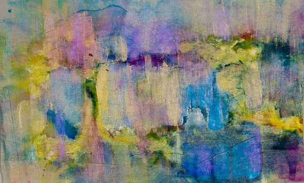 Acrylic Paint Painting - An Iridescent Oil Slick  by Don  Wright