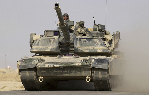 Operation Iraqi Freedom Photograph - An M1a1 Abrams Tank Heading by Stocktrek Images
