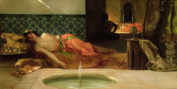 Odalisque Painting - An Odalisque In A Harem by Benjamin Constant