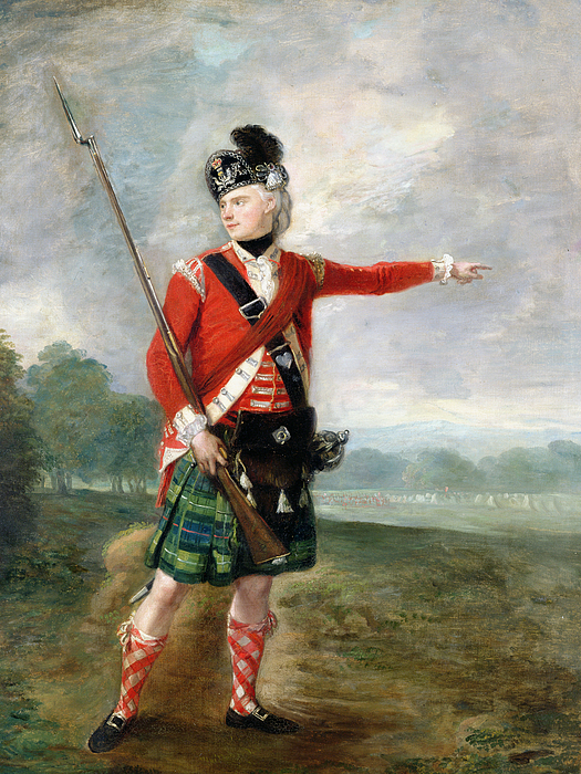 An Officer Of The Light Company Of The 73rd Highlanders Painting - An Officer Of The Light Company Of The 73rd Highlanders by Scottish School
