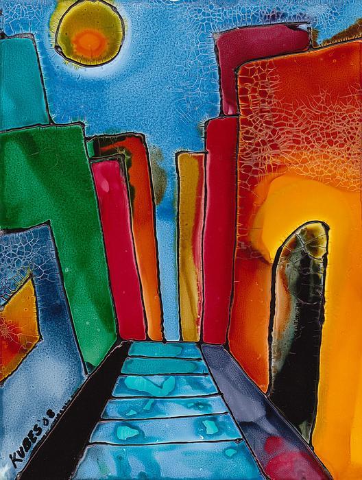 City Mixed Media - Ancient City by Susan Kubes