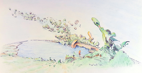 Colored Drawing - And The Earth Boiled Away by Dave Martsolf