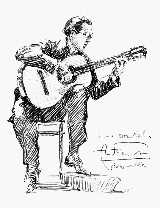 1935 Drawing - Andres Segovia by Granger