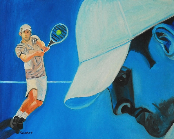 Andy Painting - Andy Roddick by Quwatha Valentine