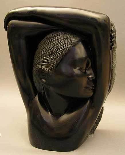 Angalgam Pania  Sculpture by John Kailukiak
