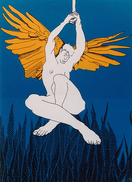 Male Painting - Angel by E Gibbons