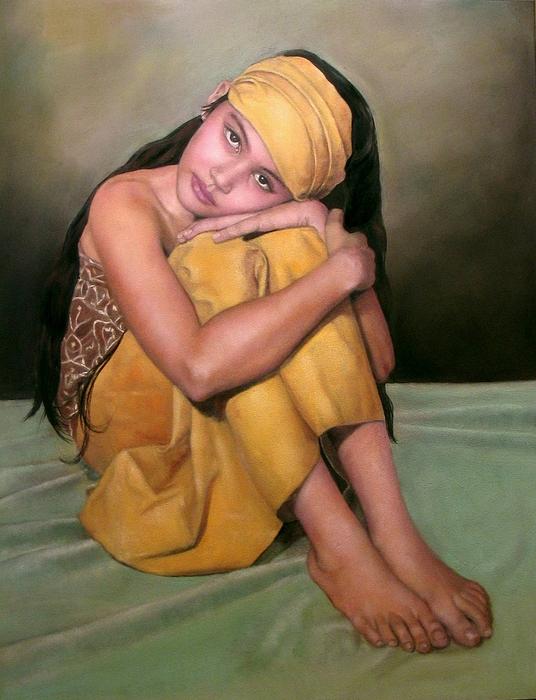 Woman Pastel - Angel Eyes by Margie Resto