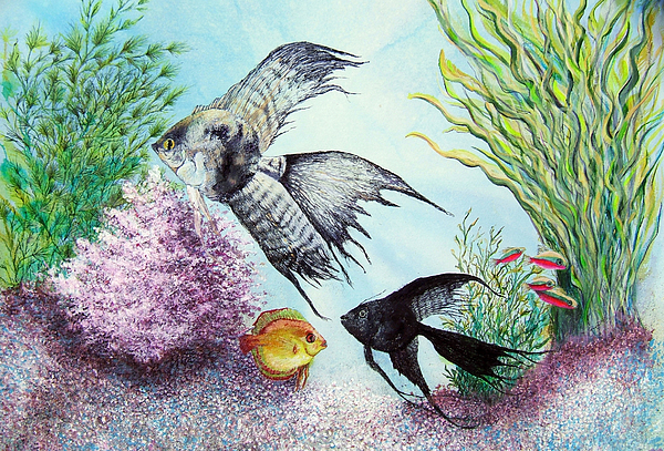 Fish Water Print - Angel Fish by JoLyn Holladay