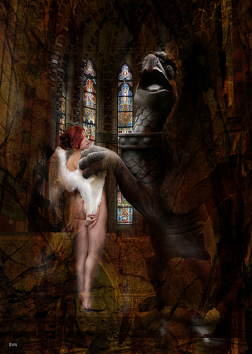 Dragon Photograph - Angel In Church 656 by The Hybryds