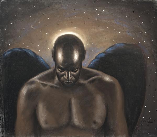 L Cooper Pastel - Angel Noir by L Cooper