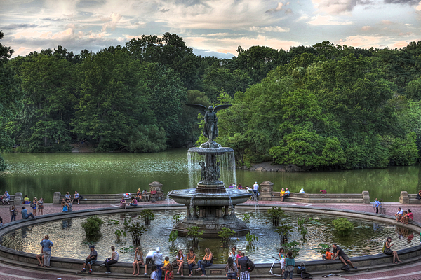 Angel Of The Waters Fountain Photograph - Angel Of The Waters Fountain  Bethesda by Lee Dos Santos