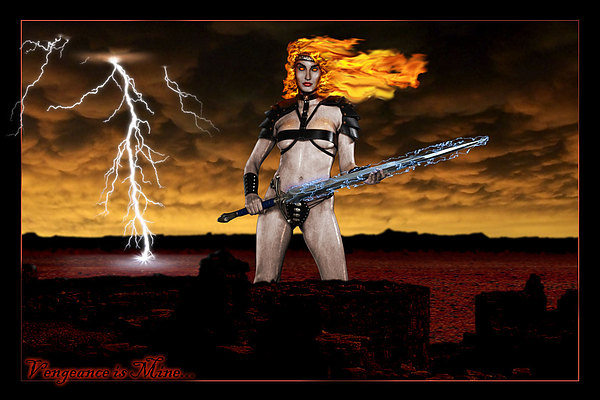 Angel Of Vengeance Digital Art by John Shioli