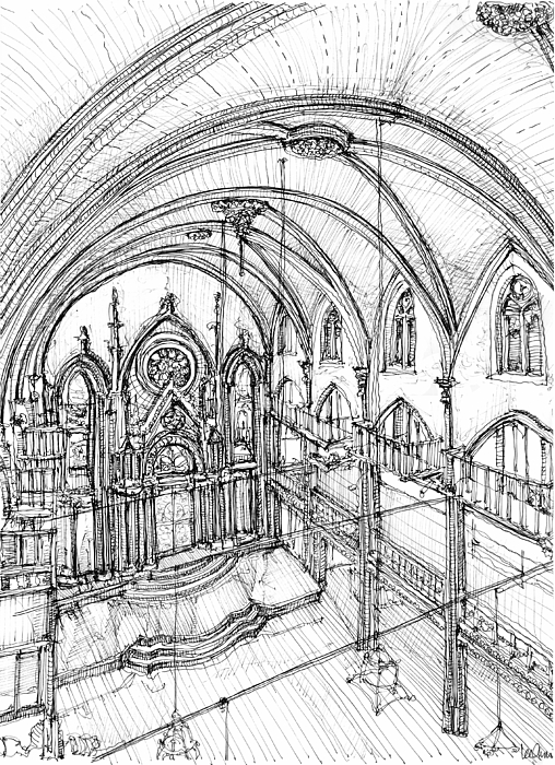 Angel Drawing - Angel Orensanz Sketch 3 by Adendorff Design