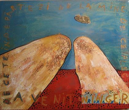 Angel Painting by Roxana Niculae