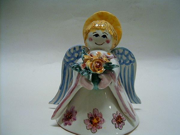 Majolica Ceramic Art - Angel With Braid by Maria Rosaria Dalessandro