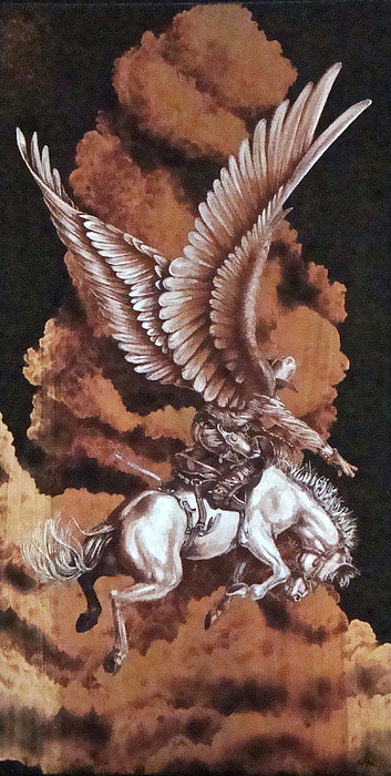 Pyrography Pyrography - Angelic Saddle Bronc by Jerrywayne Anderson